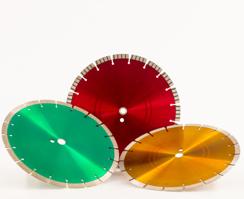 red green and yellow diamond saw blades